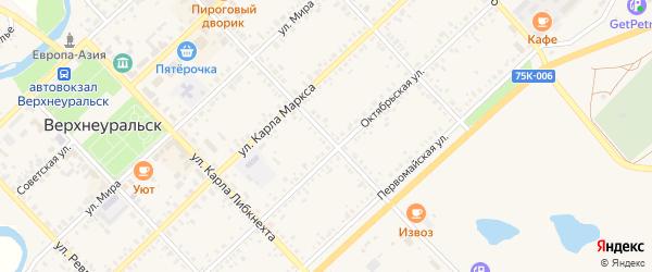 Улица Энгельса на карте Верхнеуральска с номерами домов