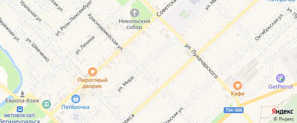 Улица Мира на карте Верхнеуральска с номерами домов