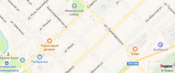 Станичная улица на карте Верхнеуральска с номерами домов