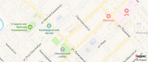 Улица Ленина на карте Верхнеуральска с номерами домов