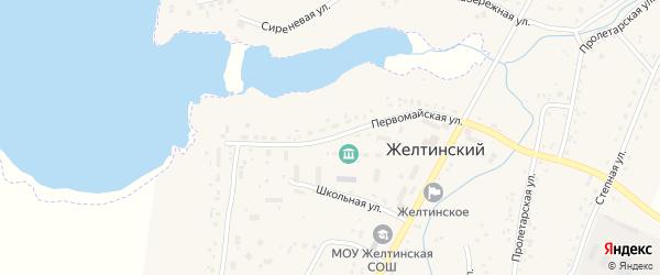 Строительная улица на карте Желтинского поселка с номерами домов