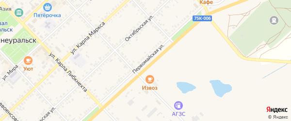 Первомайская улица на карте Верхнеуральска с номерами домов