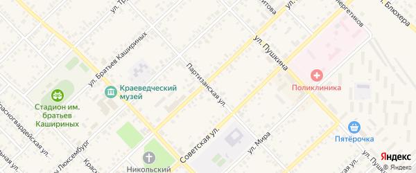 Партизанская улица на карте Верхнеуральска с номерами домов