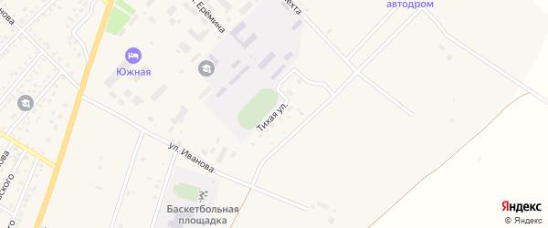 Тихая улица на карте Верхнеуральска с номерами домов