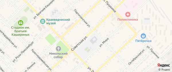 Советская улица на карте Верхнеуральска с номерами домов