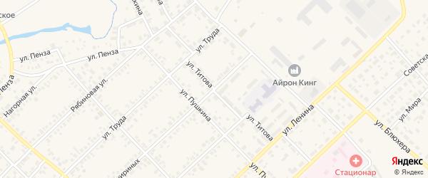 Улица Титова на карте Верхнеуральска с номерами домов
