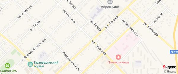 Улица Пушкина на карте Верхнеуральска с номерами домов