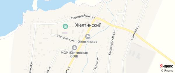 Школьная улица на карте Желтинского поселка с номерами домов