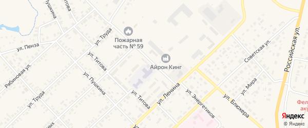 Улица Энергетиков на карте Верхнеуральска с номерами домов