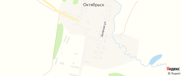 Центральная улица на карте деревни Октябрьска с номерами домов