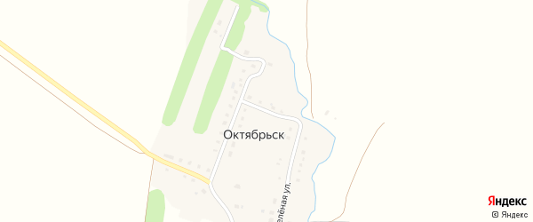 Школьный переулок на карте деревни Октябрьска с номерами домов
