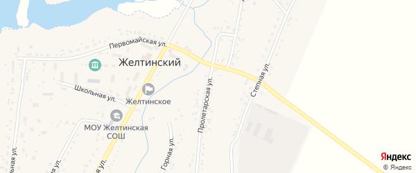 Пролетарская улица на карте Желтинского поселка с номерами домов