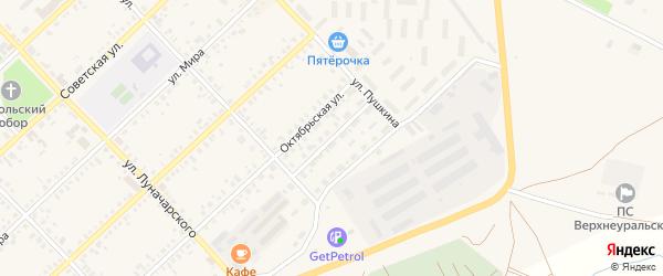 Комсомольская улица на карте Верхнеуральска с номерами домов