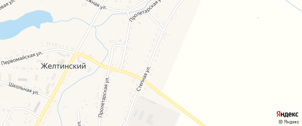 Степная улица на карте Желтинского поселка с номерами домов