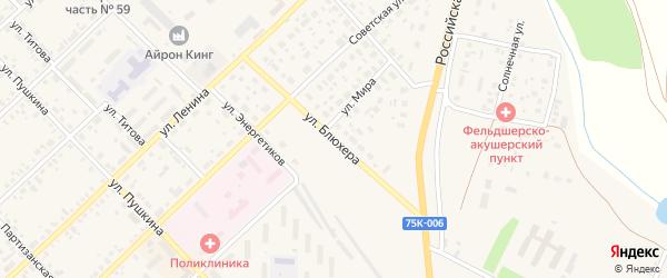 Улица Блюхера на карте Верхнеуральска с номерами домов