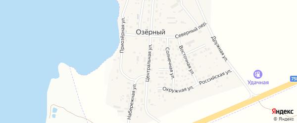 Центральная улица на карте Озерного поселка с номерами домов