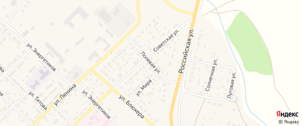 Полевая улица на карте Верхнеуральска с номерами домов