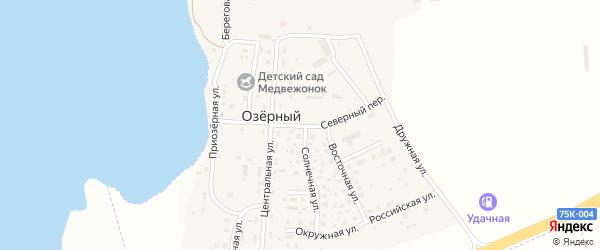 Дружная улица на карте Озерного поселка с номерами домов