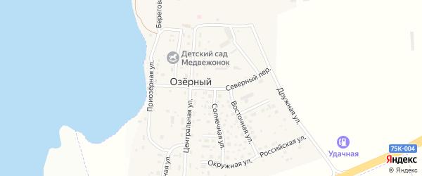 Российская улица на карте Озерного поселка с номерами домов