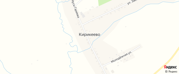 Молодежная улица на карте деревни Кирикеево с номерами домов