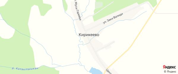 Карта деревни Кирикеево в Башкортостане с улицами и номерами домов