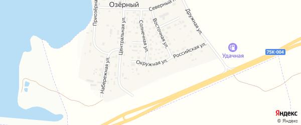Окружная улица на карте Озерного поселка с номерами домов