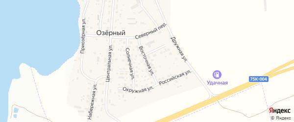 Восточная улица на карте Озерного поселка с номерами домов