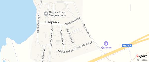 Радужная улица на карте Озерного поселка с номерами домов