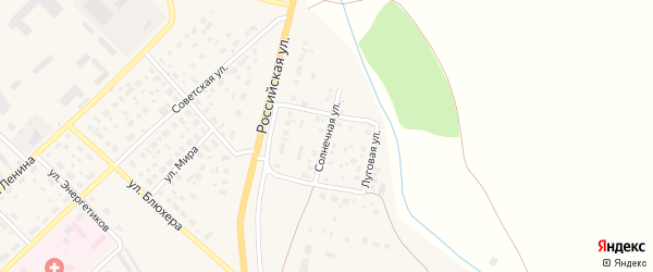 Солнечная улица на карте Верхнеуральска с номерами домов