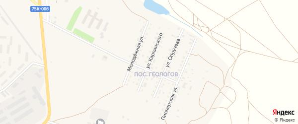 Улица Карпинского на карте Верхнеуральска с номерами домов