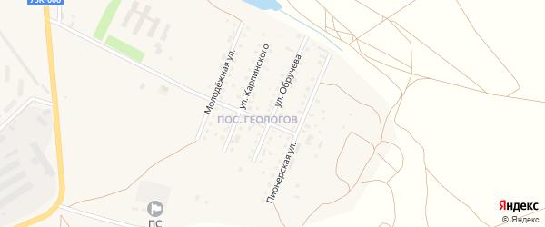 Улица Обручева на карте Верхнеуральска с номерами домов