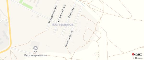 Пионерская улица на карте Верхнеуральска с номерами домов
