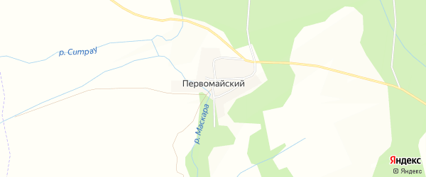 Карта Первомайского поселка в Челябинской области с улицами и номерами домов