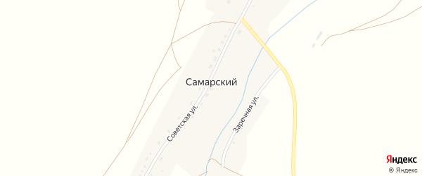 Заречная улица на карте Самарского поселка с номерами домов