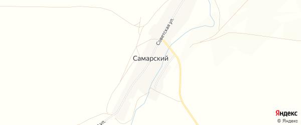 Карта Самарского поселка в Челябинской области с улицами и номерами домов