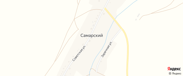 Зеленая улица на карте Самарского поселка с номерами домов