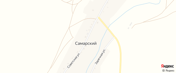 Советская улица на карте Самарского поселка с номерами домов
