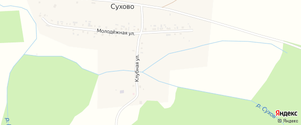 Магазинная улица на карте деревни Сухово с номерами домов