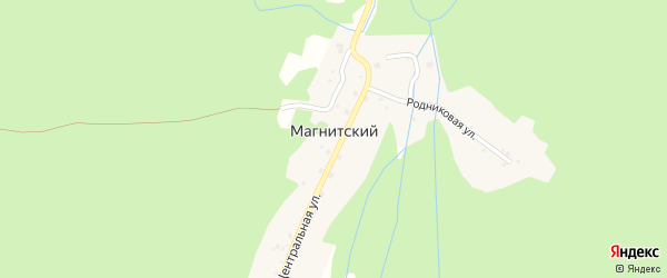Центральная улица на карте Магнитского поселка с номерами домов