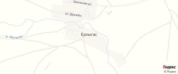 Улица Мира на карте поселка Ерлыгаса с номерами домов