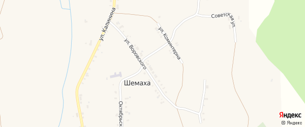Советская улица на карте села Шемахи с номерами домов