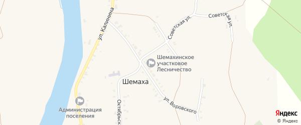 Улица Демьяна Бедного на карте села Шемахи с номерами домов