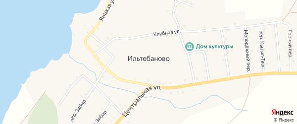 Зеленая улица на карте села Ильтебаново с номерами домов