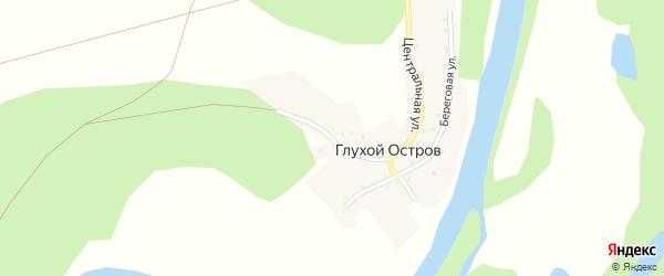 Нагорная улица на карте деревни Глухого острова с номерами домов