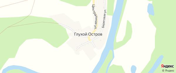 Центральная улица на карте деревни Глухого острова с номерами домов
