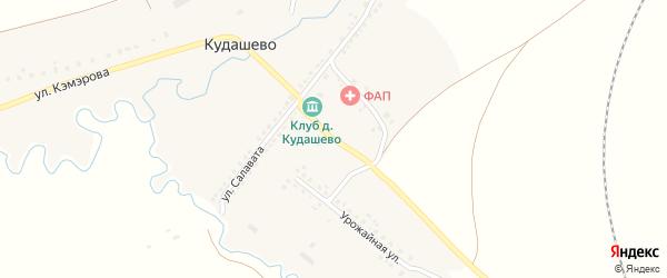 Школьный переулок на карте деревни Кудашево с номерами домов