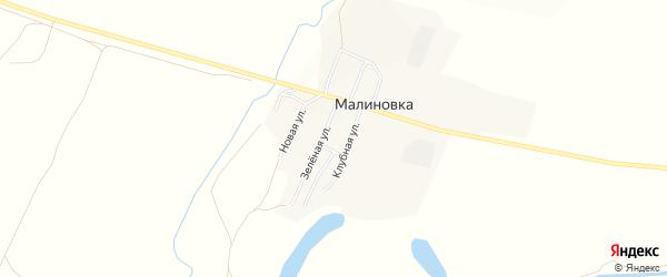 Карта поселка Малиновки в Челябинской области с улицами и номерами домов