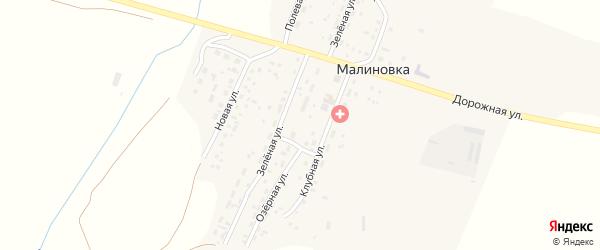 Полевая улица на карте поселка Малиновки с номерами домов
