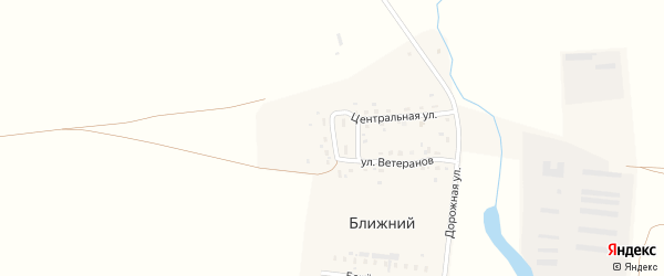 Центральный переулок на карте Ближнего поселка с номерами домов