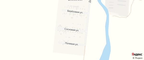 Сосновая улица на карте Ближнего поселка с номерами домов